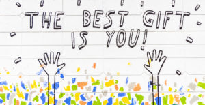 """The best gift is you"" wall art"